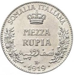 Moneta > ½rupii, 1910-1919 - Somali Włoskie  - reverse