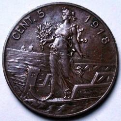 Moneta > 5čentezimai, 1908-1918 - Italija  - reverse