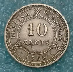 Coin > 10cents, 1956-1970 - British Honduras  - reverse