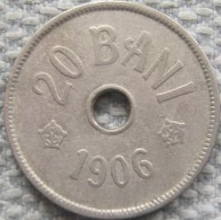 Coin > 20bani, 1905-1906 - Romania  - obverse