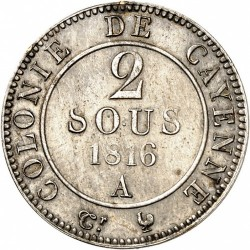 Moneta > 2sous, 1816 - Guyana Francese  - reverse