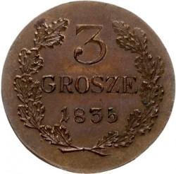 Minca > 3groše, 1835 - Krakov  - reverse