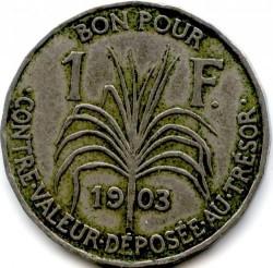 Münze > 1Franken, 1903-1921 - Guadeloupe  - reverse