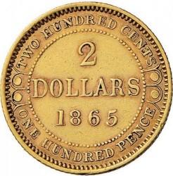 Кованица > 2долара, 1865-1888 - Њуфаундленд  - reverse