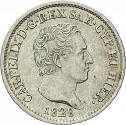 Moneta > 50centesimi, 1825-1831 - Sardegna  - obverse
