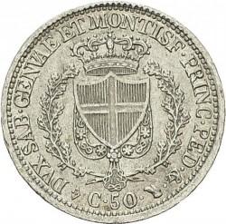 Moneta > 50centesimi, 1825-1831 - Sardegna  - reverse