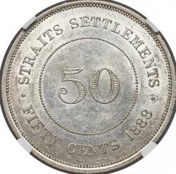Монета > 50центов, 1886-1901 - Стрейтс Сетлментс  - reverse