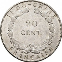 Монета > 20сантимов, 1920 - Французский Индокитай  - reverse