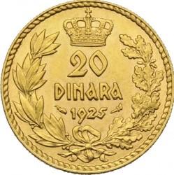Moneta > 20dinarów, 1925 - Jugosławia  - reverse