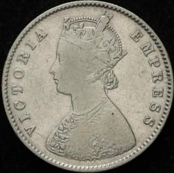 Кованица > ½рупија, 1877-1899 - Индија - Британија  - obverse