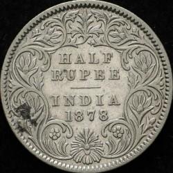 العملة > ١/٢روبية, 1877-1899 - الهند - البريطانية  - reverse
