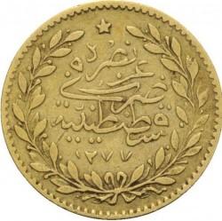 Munt > 25kurus, 1861 - Ottomaanse Rijk  - reverse