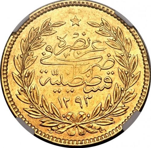 500 Kuruş 1876 Osmanisches Reich Münzen Wert Ucoinnet