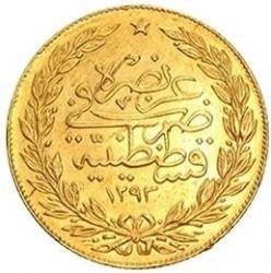 Mynt > 100kurus, 1876 - Osmanska riket  (Ligature at the top right of Tugra; Stars) - reverse