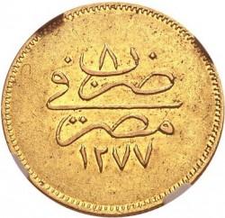 Minca > 100qirsh, 1861 - Egypt  - reverse