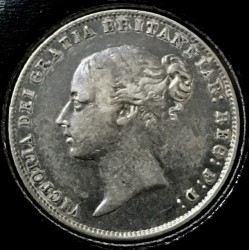 Монета > 6пенса, 1838-1866 - Великобритания  - obverse