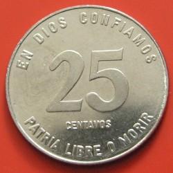 Moeda > 25centavos, 1985 - Nicarágua  - reverse