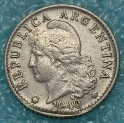 Moneda > 5centavos, 1940 - Argentina  - obverse