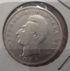 سکه > 2decimos, 1884-1916 - اکوادور  - obverse