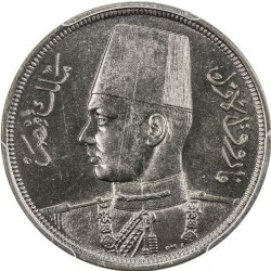 Moneda > 10milliemes, 1938-1941 - Egipto  - obverse