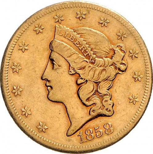 20 Dollar 1850 1865 Double Eagle Usa Münzen Wert Ucoinnet