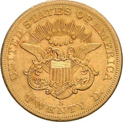 Münze > 20Dollar, 1850-1865 - USA  (Double Eagle) - reverse
