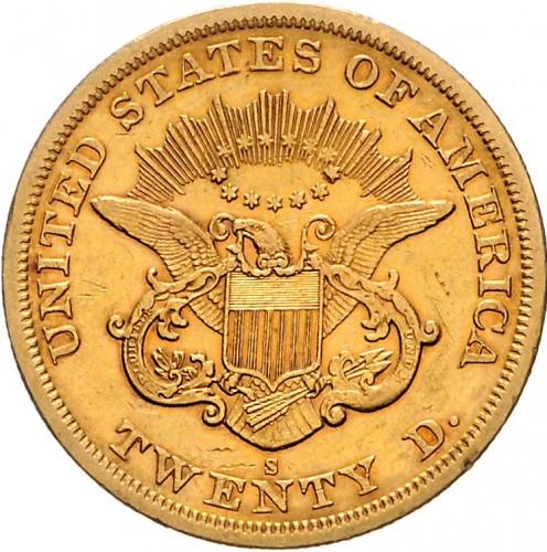 20 Dollar 1863 Double Eagle Usa Münzen Wert Ucoinnet