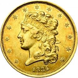 Νόμισμα > 5Δολάρια, 1834-1838 - Η.Π.Α  - obverse