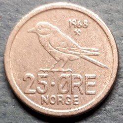 Mynt > 25 ore, 1968 - Norge  - reverse