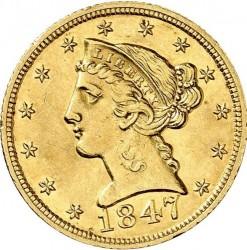 Munt > 5dollars, 1839-1866 - Verenigde Staten  - obverse