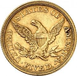 Munt > 5dollars, 1839-1866 - Verenigde Staten  - reverse