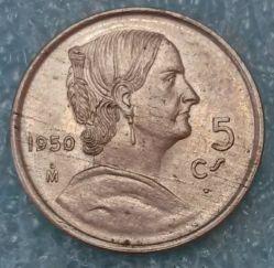 Монета > 5сентаво, 1950 - Мексика  - reverse