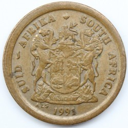 Coin > 2 cents, 1990-1995 - South Africa  - reverse