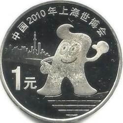Moneta > 1yuan, 2010 - Cina  (Shanghai EXPO, 2010) - reverse