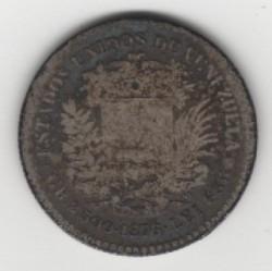 Münze > 10Centavos, 1874-1876 - Venezuela  - obverse