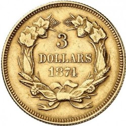 Munt > 3dollars, 1854-1889 - Verenigde Staten  - reverse
