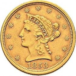 Munt > 2½dollars, 1840-1907 - Verenigde Staten  - obverse