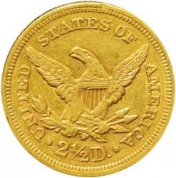 Munt > 2½dollars, 1840-1907 - Verenigde Staten  - reverse