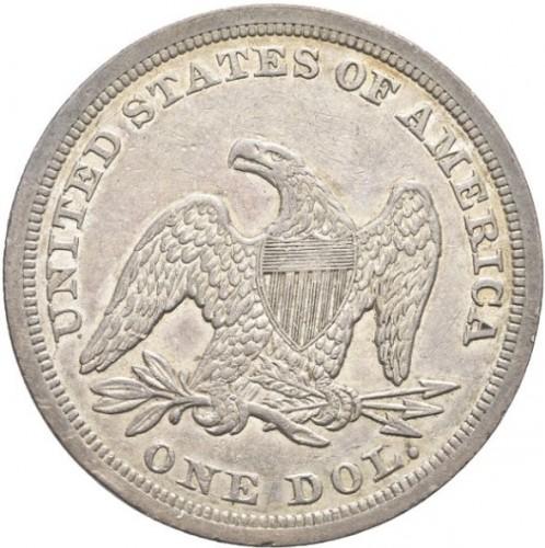 1 Dollar 1840 1865 Sitzende Liberty Usa Münzen Wert Ucoinnet