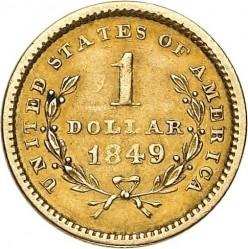 Munt > 1dollar, 1849-1854 - Verenigde Staten  (Liberty Head) - reverse