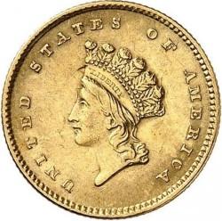 Νόμισμα > 1Δολάριο, 1854-1856 - Η.Π.Α  (Small Indian Head) - obverse