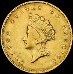 Munt > 1dollar, 1854-1856 - Verenigde Staten  (Small Indian Head) - obverse