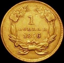 Munt > 1dollar, 1854-1856 - Verenigde Staten  (Small Indian Head) - reverse