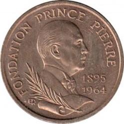Moneda > 10francos, 1989 - Mónaco  (25 aniversario - Muerte del Príncipe Pedro) - obverse