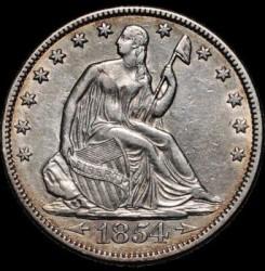 Монета > ½доллара, 1854-1855 - США  (Seated Liberty Half Dollar) - obverse