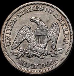 Монета > ½доллара, 1854-1855 - США  (Seated Liberty Half Dollar) - reverse