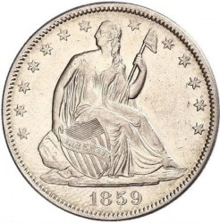 Монета > ½доллара, 1856-1865 - США  (Seated Liberty Half Dollar) - obverse