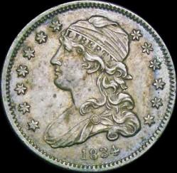 Кованица > ¼долара, 1831-1838 - Сједињене Америчке Државе  (Liberty Cap Quarter) - obverse