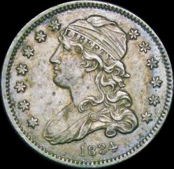 Munt > ¼dollar, 1831-1838 - Verenigde Staten  (Liberty Cap Quarter) - obverse