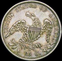 Кованица > ¼долара, 1831-1838 - Сједињене Америчке Државе  (Liberty Cap Quarter) - reverse